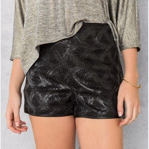 Pants - BLACK SEQUIN SHORTS